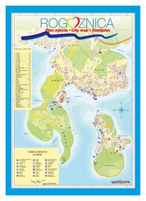Map - Rogoznica